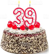 tort urodzinowy 39